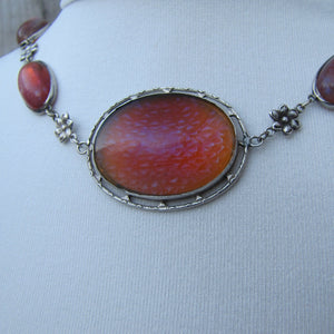 Antique Dragons Breath Saphiret Silver Necklace - Mercy Madge
