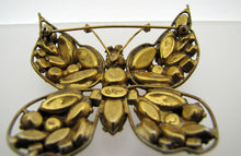 Load image into Gallery viewer, 1950s LaRoco Butterfly Brooch & Earring Set. - MercyMadge