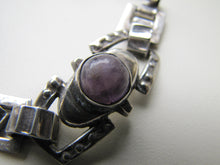 Load image into Gallery viewer, 1940s Mexican Silver & Amethyst Bracelet, Taxco. - MercyMadge