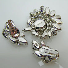 Load image into Gallery viewer, Vintage 1940s Eisenberg Brooch & Earring Set - MercyMadge
