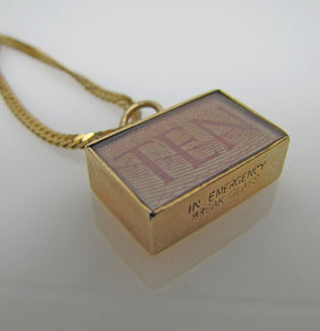1960's  9ct Gold Pendant Charm, 10 Shillings Emergency Money - Mercy Madge