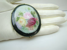 Load image into Gallery viewer, Victorian Painted Porcelain Brooch - MercyMadge