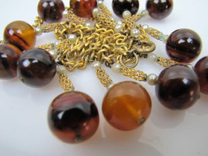 1930s Art Deco Bakelite Necklace. Vintage Bakelite Orb Charm Necklace. - Mercy Madge