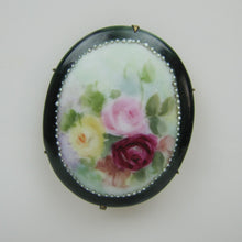 Load image into Gallery viewer, Victorian Painted Porcelain Brooch - Mercy Madge