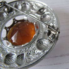 Load image into Gallery viewer, Massive Scottish Citrine & Thistle Celtic Brooch. - MercyMadge