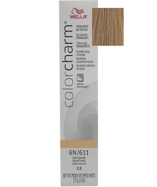 Wella Color Charm Gel Tube 2oz - 611/6N Dark Blonde