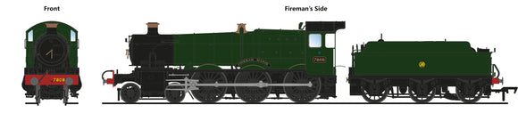 PRE-ORDER Accurascale ACC2503-7808 7808 Cookham Manor GWR Green (preserved)