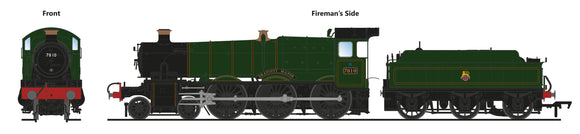 PRE-ORDER Accurascale ACC2504-7810 7810 Draycott Manor BR Lined Green Early Crest