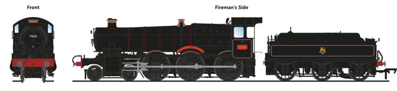PRE-ORDER Accurascale ACC2504-7820 7820 Dinmore Manor BR Lined Black Early Crest