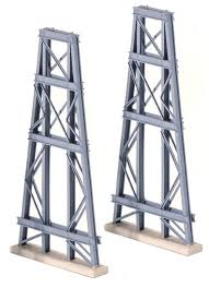 Ratio Kit 242 Steel Trestles (2) N Scale Plastic Kit