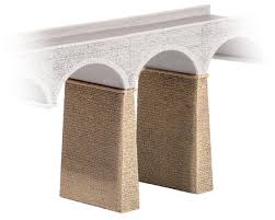 Ratio 254 Stone Piers (2) N Scale Plastic Kit