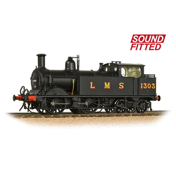 Bachmann 31-741SF MR 1532 (1P) Tank 1303 LMS Black (Original) SOUND FITTED