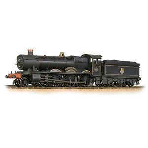 Bachmann 32-002a GWR 'Hall' 4971 'Stanway Hall' BR Lined Black (E-Emblem) Weathered