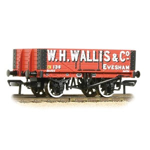 Bachmann 37-072 5 Plank Wagon Wooden Floor 'W. H. Wallis & Co' Red
