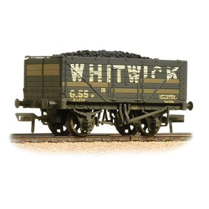 Bachmann 37-092 7 Plank Wagon End Door 'Whitwick' Grey weathered with load