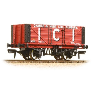 Bachmann 37-115 7 Plank Wagon Fixed End 'ICI' Chance & Hunt Ltd' Red