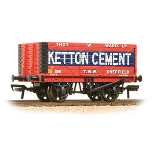 Bachmann 37-134b 8 Plank Wagon End Door 'Ketton Cement' Red