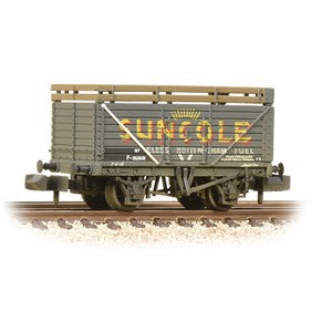 Graham Farish 377-206a 8 Plank Wagon Coke Rails BR P No. (Ex-PO) 'Suncole' Weathered