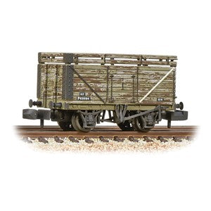 Graham Farish 377-207 8 Plank Wagon Coke Rails Refurbished BR P No. (Ex-PO) weathered