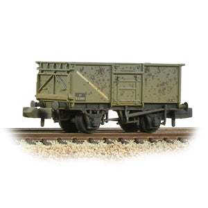 Graham Farish 377-227E BR 16T Steel Mineral Wagon with Top Flap Doors BR Grey (Early)