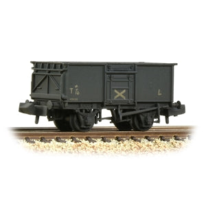 Graham Farish 377-228 BR 16T Steel Mineral Wagon with Top Flap Doors NCB Grey