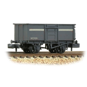 Graham Farish 377-256 BR 16T Steel Mineral Wagon with Top Flap Doors NCB Grey