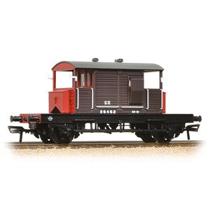 Bachmann 38-400a SR 25T 'Pill Box' Brake Van Left-Hand Duckets SR Brown