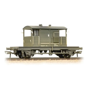 Bachmann 38-404a SR 25T 'Pill Box' Brake Van BR Departmental Olive Green weathered
