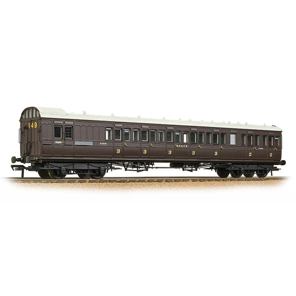 Bachmann 39-604 SE&CR 60ft Birdcage Brake Composite Lavatory SE&CR Wellington Brown