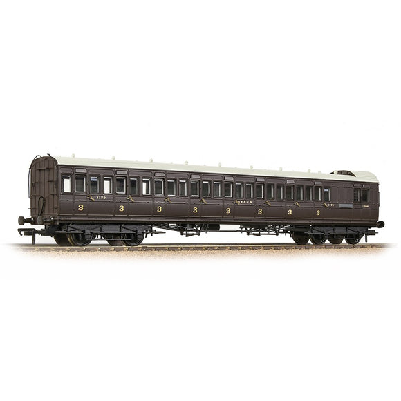Bachmann 39-624 SE&CR 60ft Birdcage Brake Third SE&CR Wellington Brown
