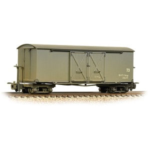 Bachmann 393-026a Bogie Covered Goods Wagon Nocton Estates L. R. Grey Weathered