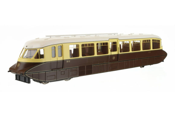 Dapol 4D-011-005 Streamlined Railcar 12 Lined Chocolate & Cream GWR Mongram with Valance
