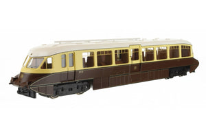 Dapol 4D-011-006 Streamlined Railcar 10 in GWR chocolate and cream with shirtbutton emblem