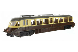 Dapol 4D-011-009 Streamlined Railcar 16 in GWR chocolate and cream with twin cities crest