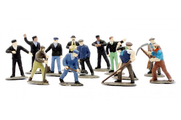 Dapol C002 Railway Workmen (Set of 38, Unpainted) OO Scale Plastic Kit
