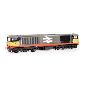 EFE Rail E84005 Class 58 58011 BR Railfreight (Red Stripe) Weathered & Faded logos