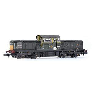 EFE Rail E84509 Class 17 D8600 BR Green (Small Yellow Panels) Weathered N Gauge