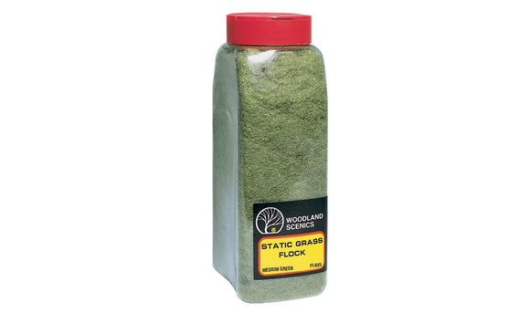 Woodland Scenics WFL635 Medium Green Static Grass Flock Shaker