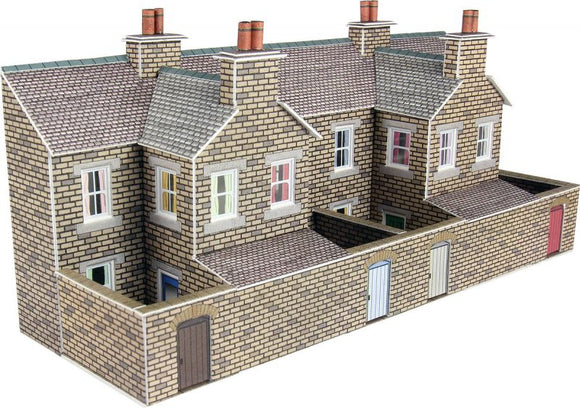 METCALFE PN177 N SCALE LOW RELIEF STONE TERRACED HOUSE BACKS