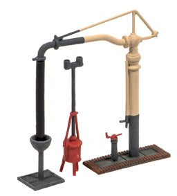 Ratio 212 Water Crane & Fire Devil N Scale Plastic Kit