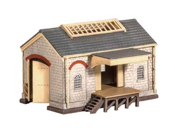 Ratio 220 Stone Goods Shed N Scale Plastic Kit