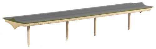 Ratio 225 Flat Roof Platform Canopy with Valencing N Scale Plastic Kit