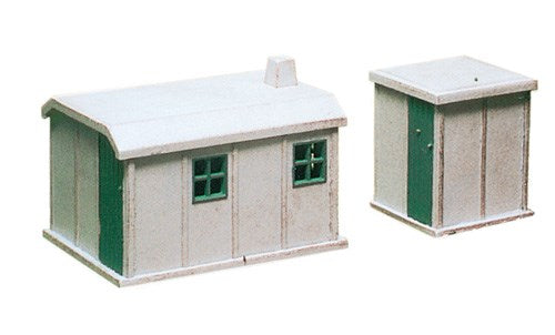 Ratio 238 Concrete Huts (2) N Scale Plastic Kit