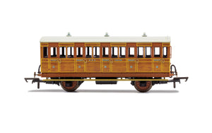 PRE-ORDER Hornby R40104A GNR 4 Wheel Coach 3rd Class 1505 WITH LIGHTS
