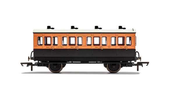 PRE-ORDER Hornby R40061 LSWR 4 Wheel Coach 1st Class 123