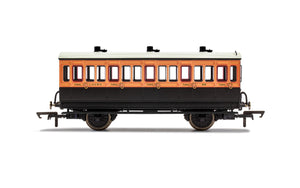 PRE-ORDER Hornby R40108A LSWR 4 Wheel Coach 3rd Class 308 WITH LIGHTS