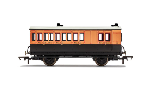 PRE-ORDER Hornby R40063 LSWR 4 Wheel Coach Brake 3rd Class 179
