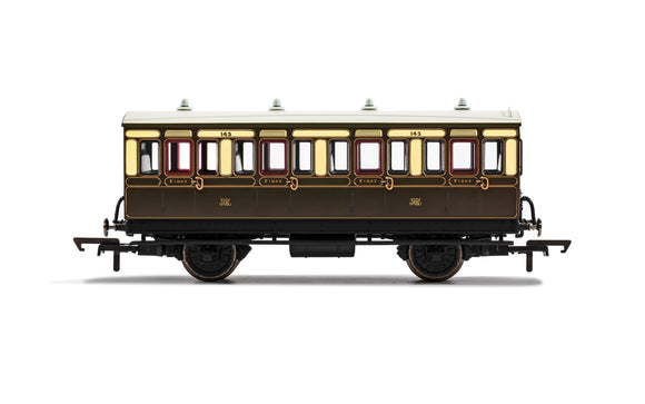 PRE-ORDER Hornby R40111 GWR 4 Wheel Coach 1st Class 143 WITH LIGHTS