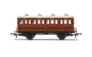 PRE-ORDER Hornby R40115 LB&SCR 4 Wheel Coach 1st Class 474 WITH LIGHTS