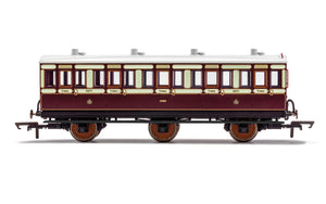 PRE-ORDER Hornby R40120A LNWR 6 Wheel Coach 3rd Class 4671 WITH LIGHTS